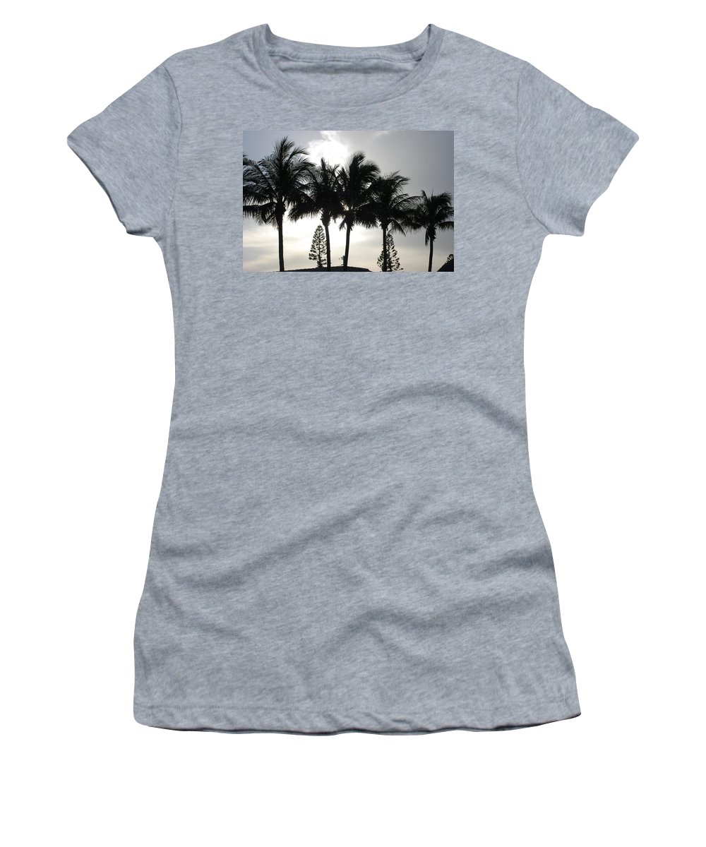 Sky Women's T-Shirt (Athletic Fit) featuring the photograph Sunset Thru The Trees by Rob Hans