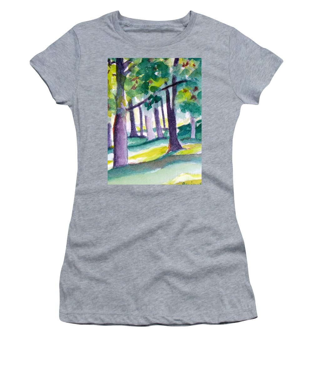 Nature Women's T-Shirt featuring the painting The Perfect Day by Jan Bennicoff