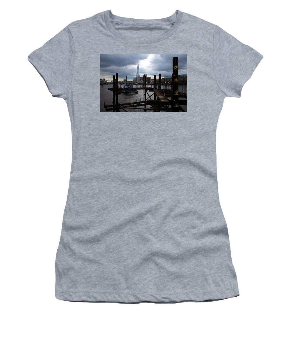 London Women's T-Shirt featuring the photograph The Shard by Piotr Kuzniar