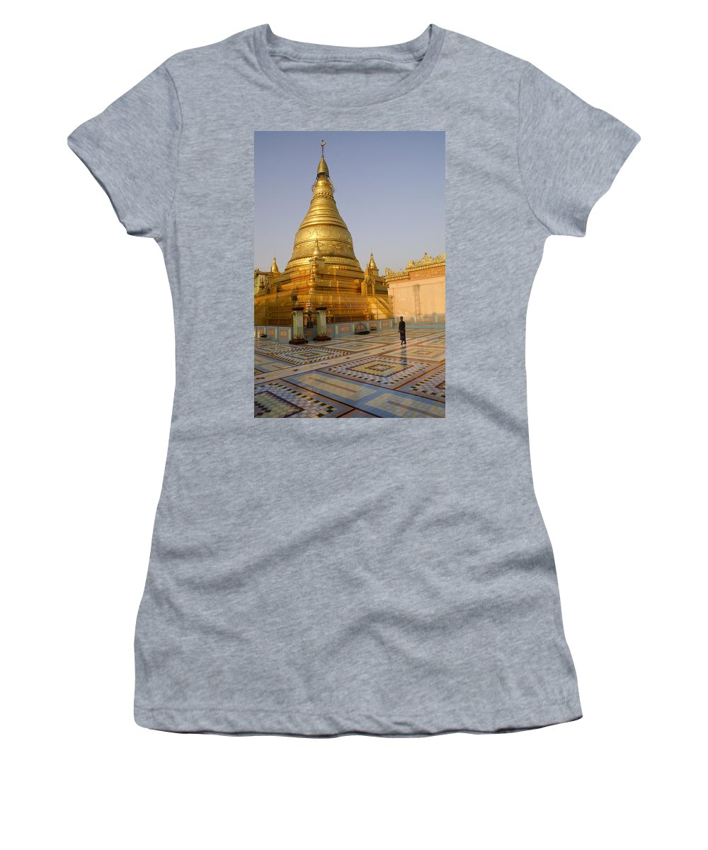 Burma Women's T-Shirt (Athletic Fit) featuring the photograph Tranquility by Michele Burgess