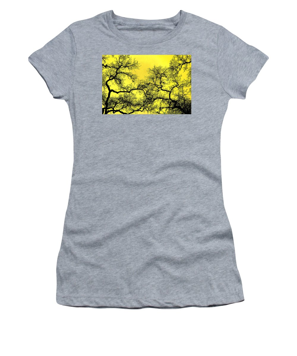 Digital Art Women's T-Shirt (Athletic Fit) featuring the photograph Tree Fantasy 18 by Lee Santa