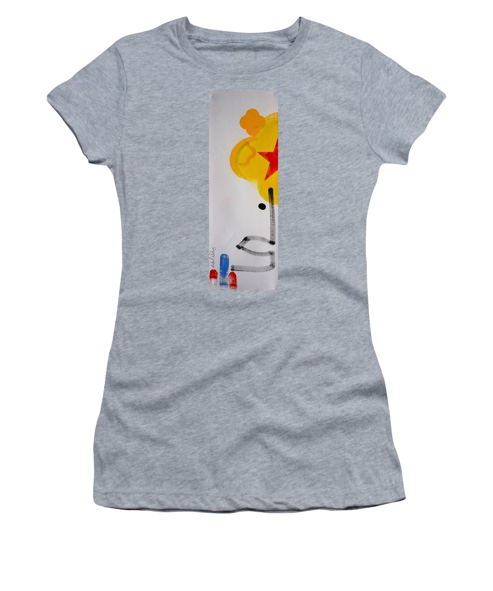 Drawing Women's T-Shirt (Athletic Fit) featuring the painting UN by Charles Stuart