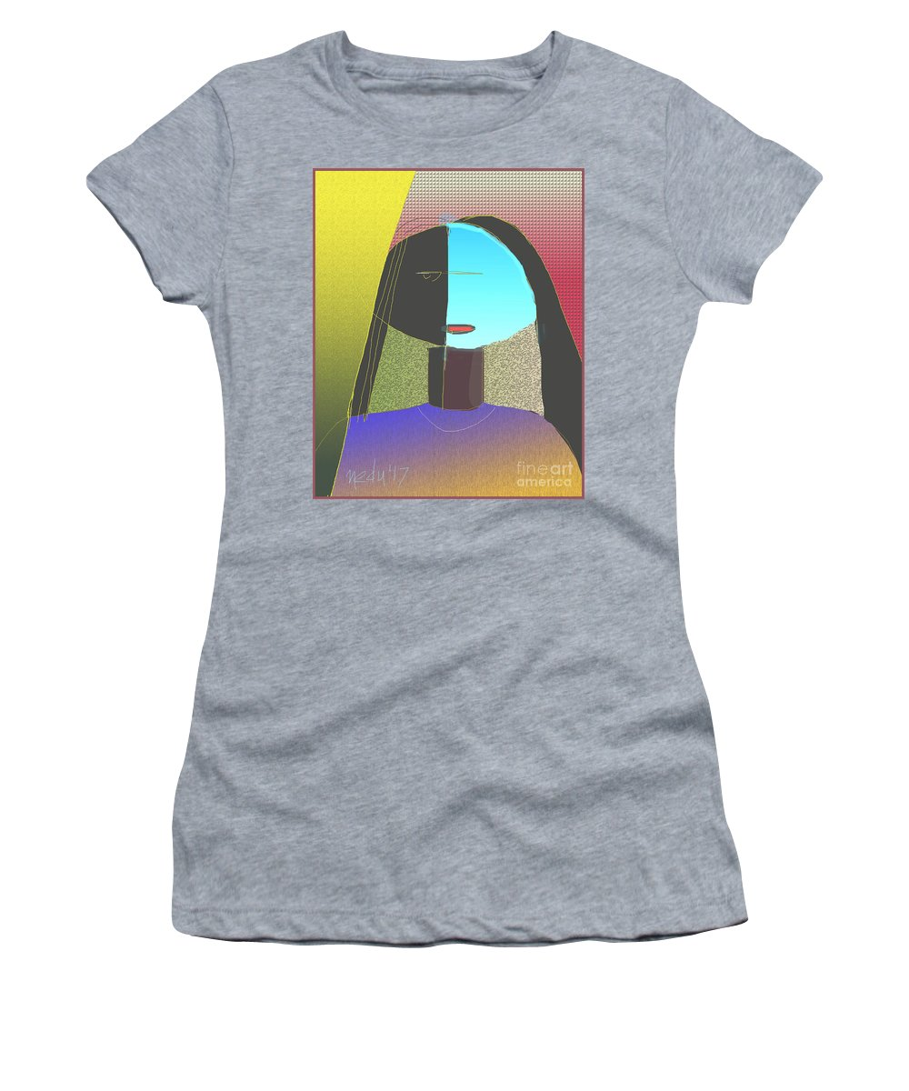 Fine Art Women's T-Shirt (Athletic Fit) featuring the painting Untitled 904 by Nedunseralathan R