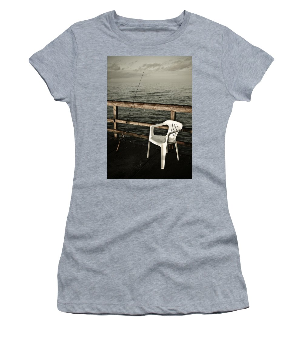 Fish Women's T-Shirt (Athletic Fit) featuring the photograph Waiting by Marilyn Hunt