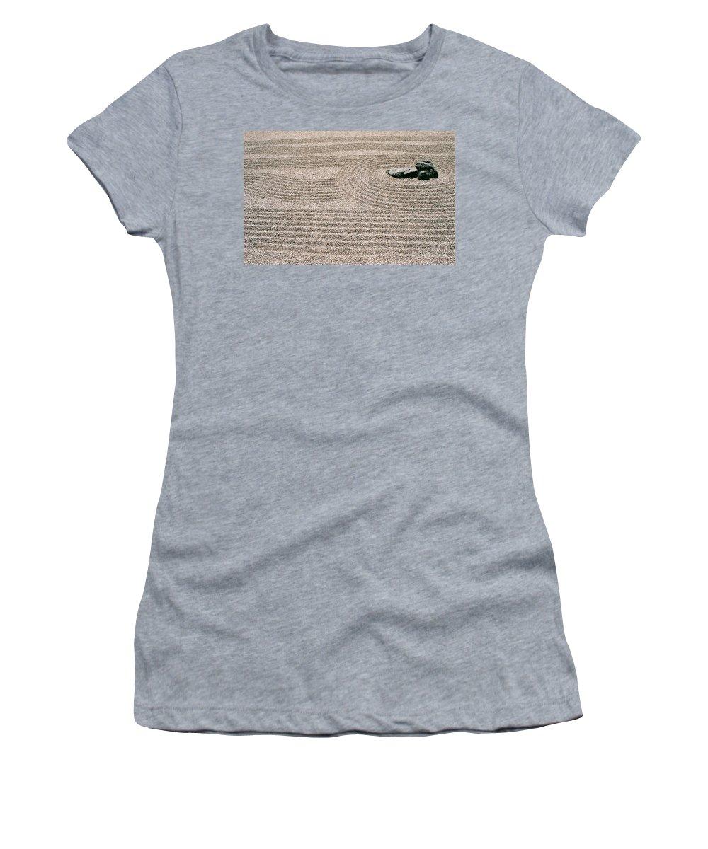Zen Women's T-Shirt featuring the photograph Zen Garden by Dean Triolo