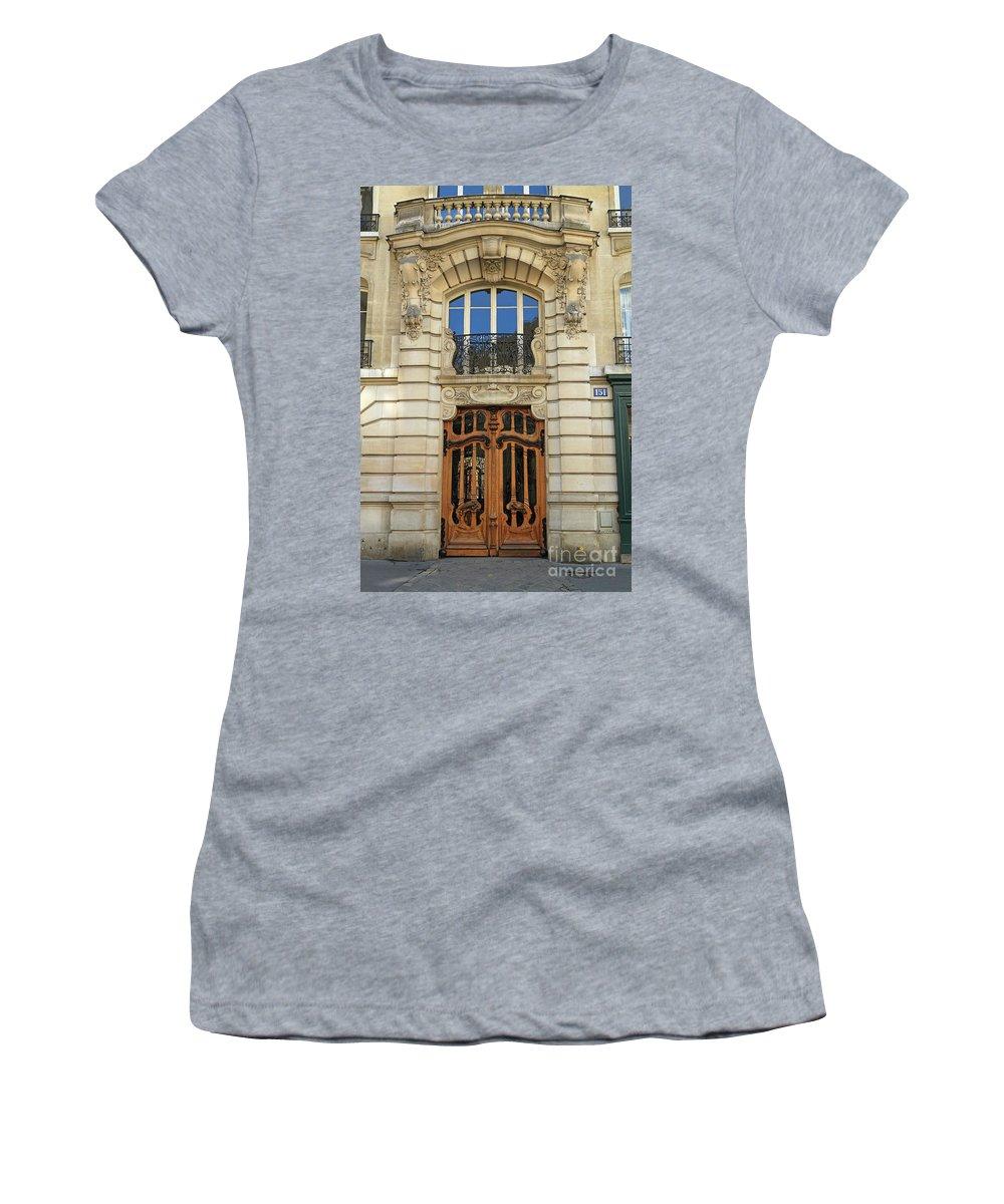Art Nouveau Women's T-Shirt (Athletic Fit) featuring the photograph 151 Rue De Grenelle Paris by Louise Heusinkveld