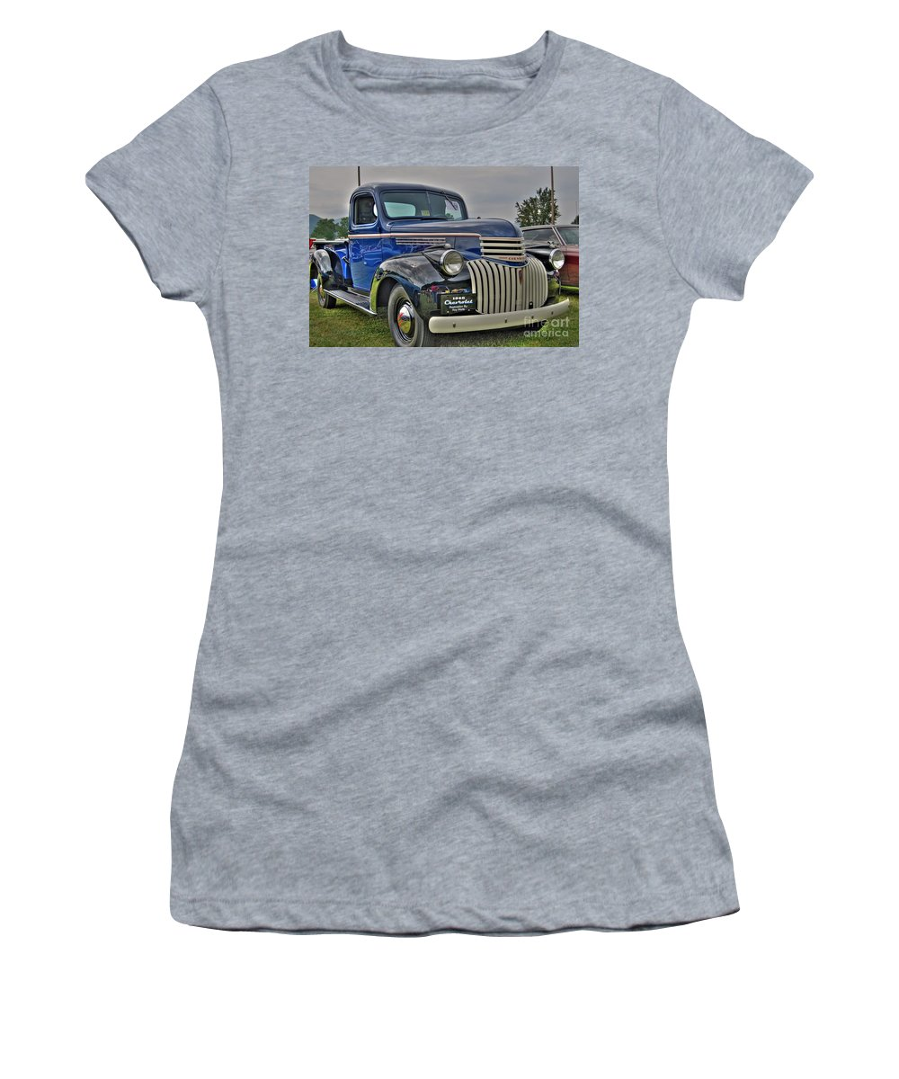 1946 Chevy Women's T-Shirt (Athletic Fit) featuring the photograph 1946 Chevy by Todd Hostetter