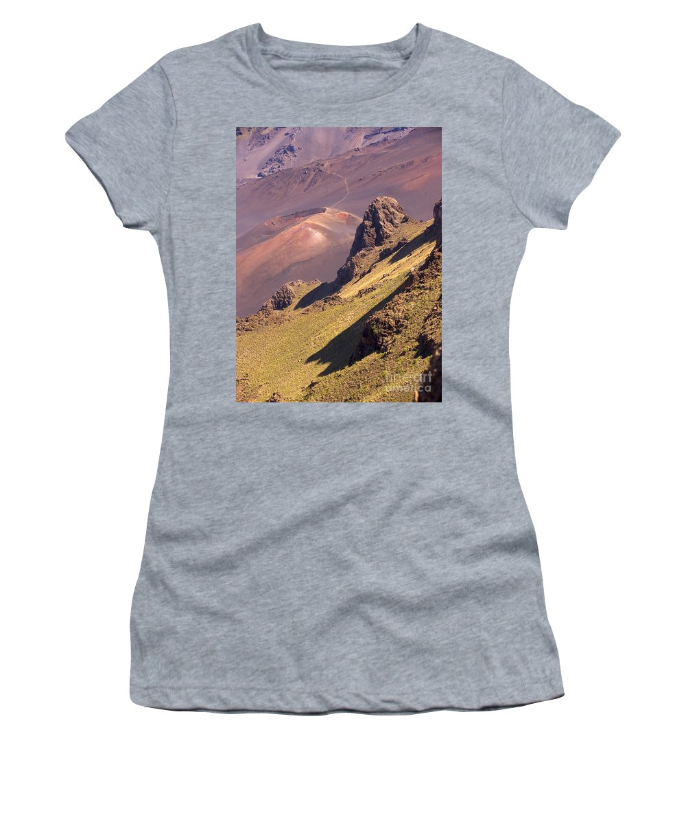 Above Women's T-Shirt (Athletic Fit) featuring the photograph Maui, Haleakala Crater by Ron Dahlquist - Printscapes