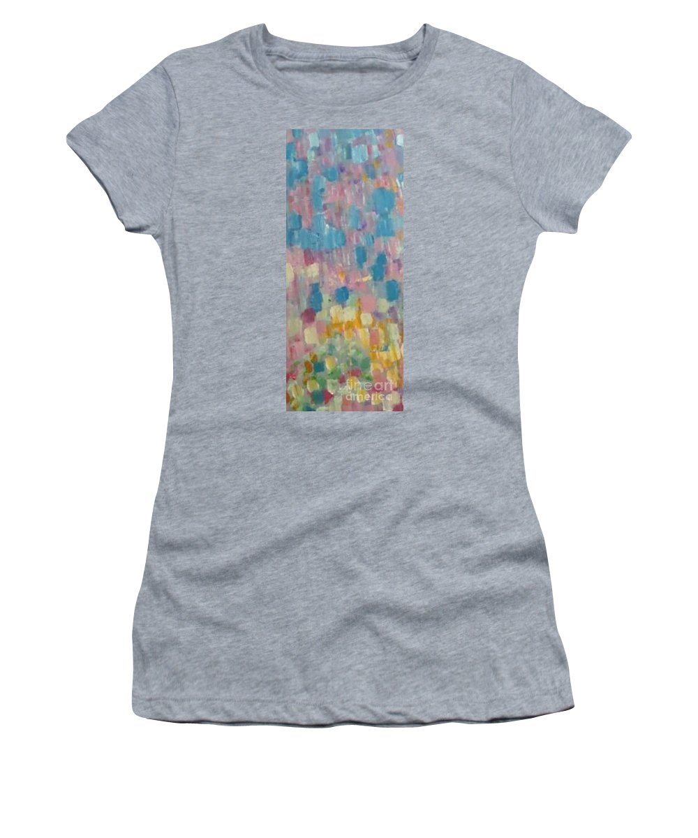Panels Entrance Hall Women's T-Shirt featuring the painting Painting by Archangelus Gallery