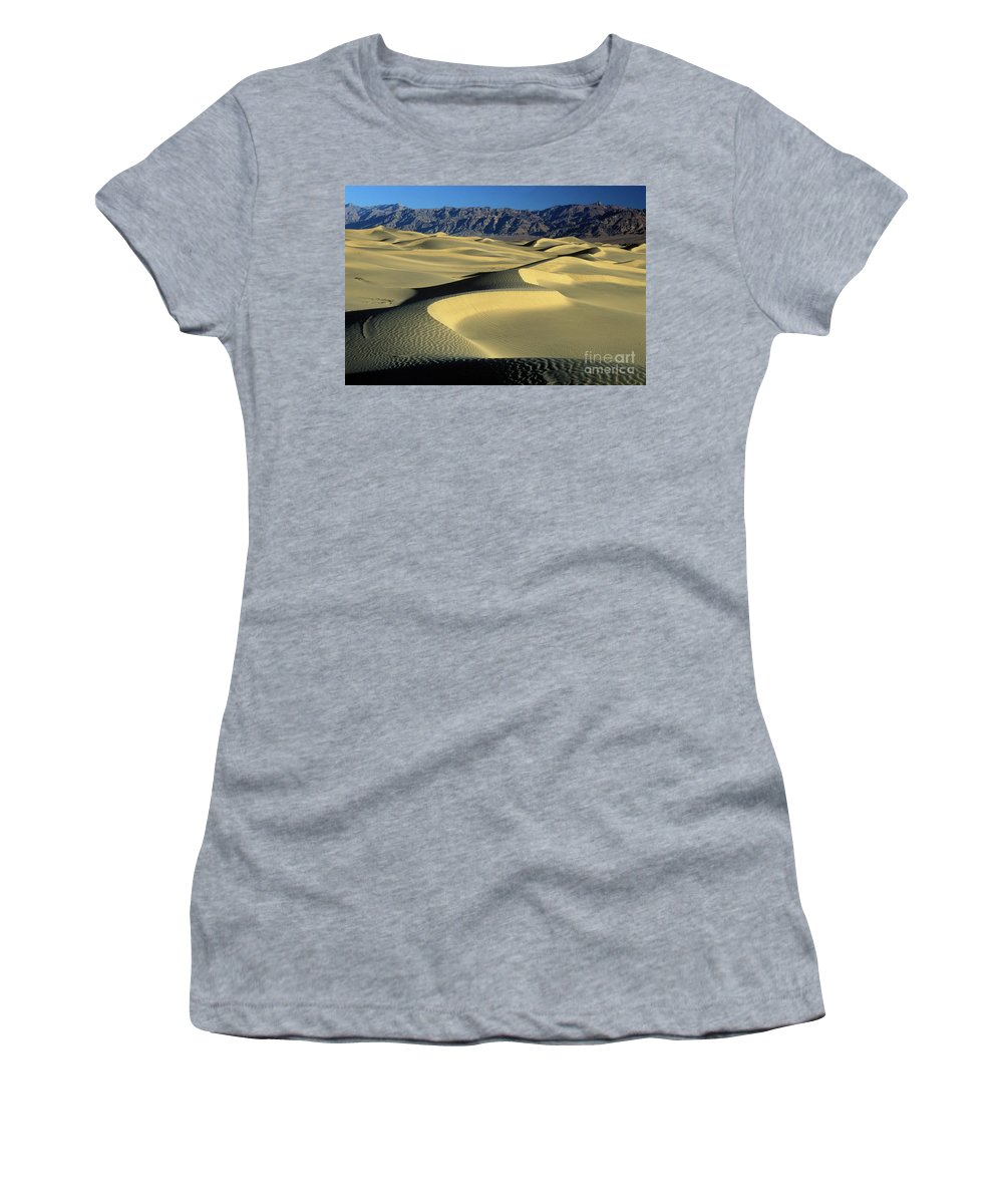 Sand Women's T-Shirt (Athletic Fit) featuring the photograph Sand Dunes by Jim And Emily Bush