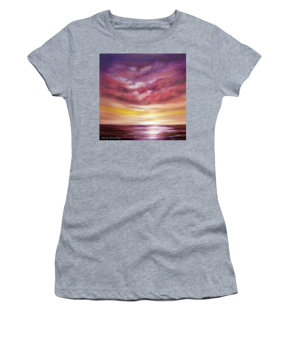Square Women's T-Shirt featuring the painting Splendid by Gina De Gorna