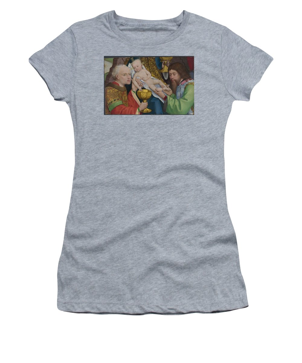 Master Women's T-Shirt (Athletic Fit) featuring the digital art The Adoration Of The Kings by PixBreak Art