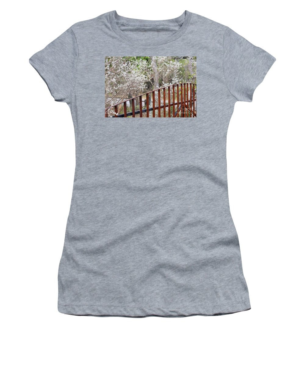 Women's T-Shirt featuring the photograph Gate 006 by Jeff Downs