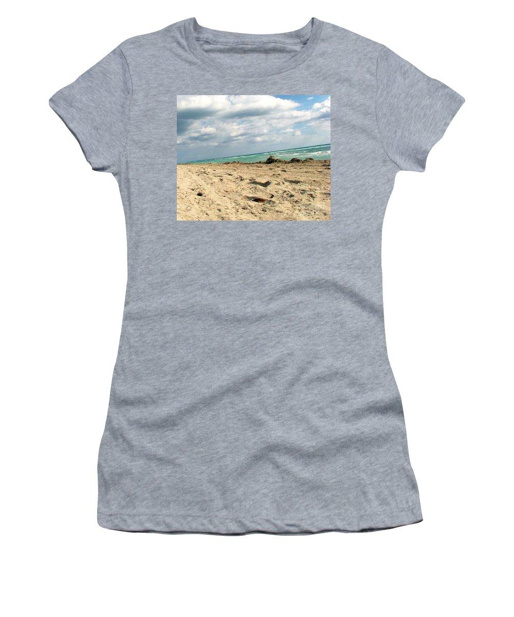 Miami Women's T-Shirt featuring the photograph Miami Beach by Amanda Barcon
