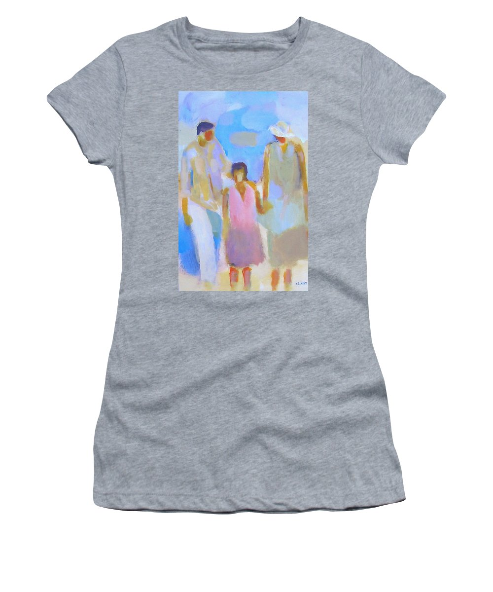 Abstract Women's T-Shirt featuring the painting 3 With Love by Habib Ayat