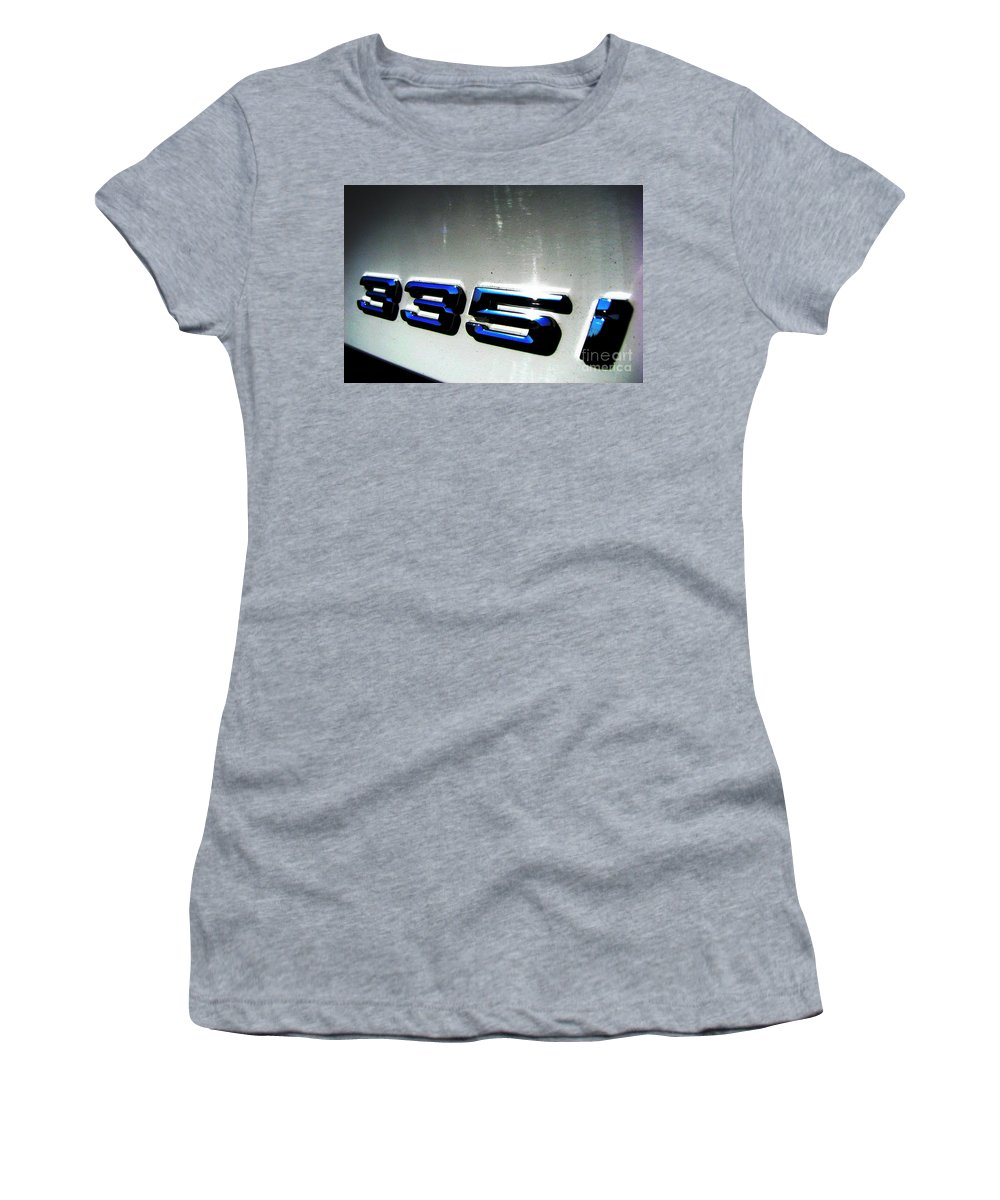 335i Women's T-Shirt (Athletic Fit) featuring the photograph 335i by Amanda Barcon