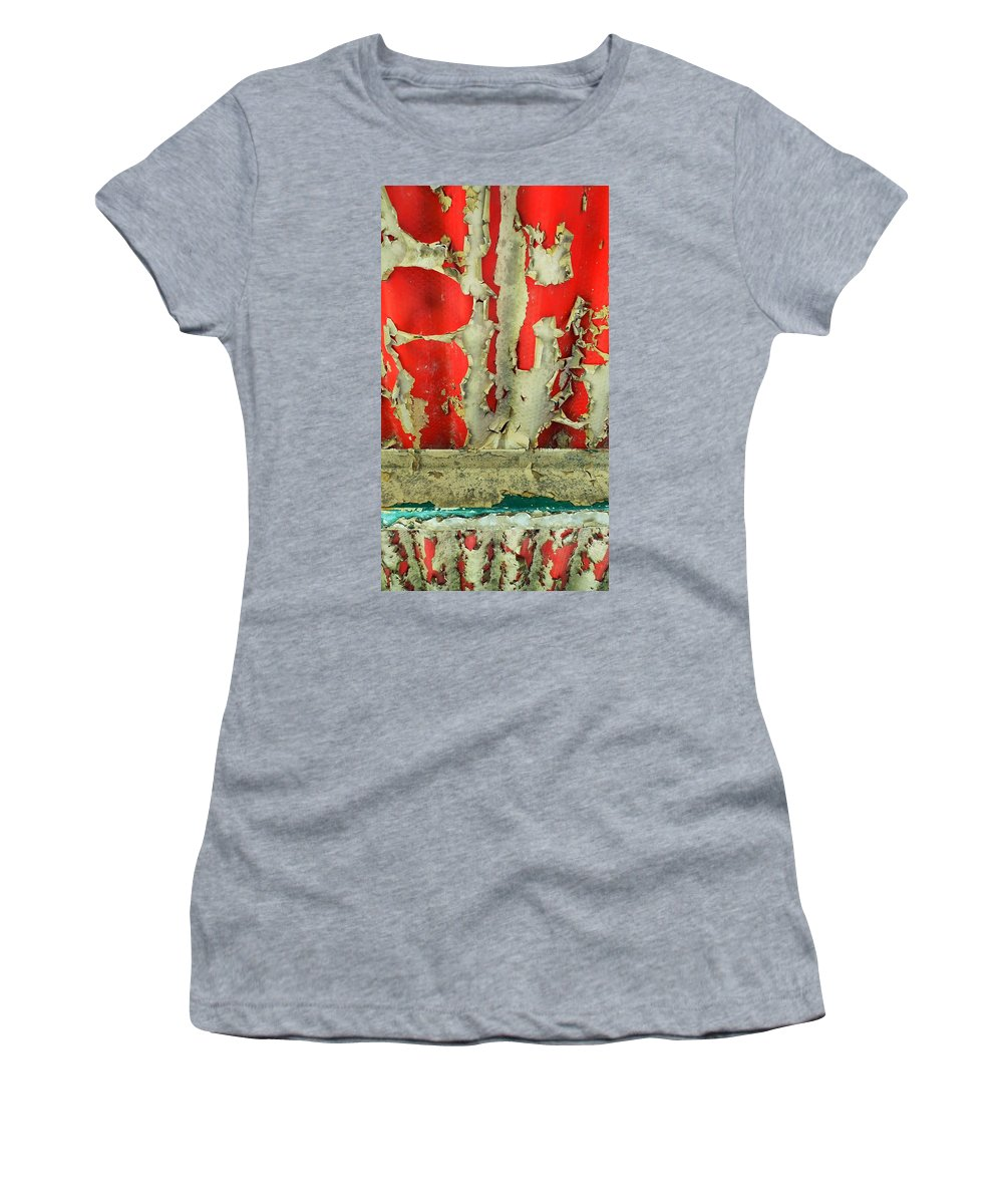 Abstract Women's T-Shirt featuring the photograph 377 At 41 Series 3 by Skip Hunt