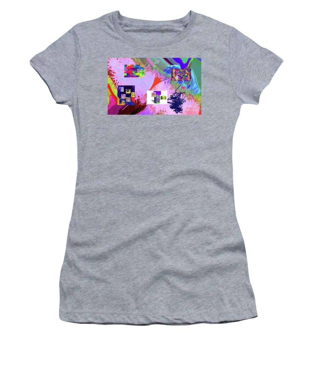 Walter Paul Bebirian Women's T-Shirt (Athletic Fit) featuring the digital art 4-18-2015babcdefghijklmnopqrtuvwxyzabcd by Walter Paul Bebirian