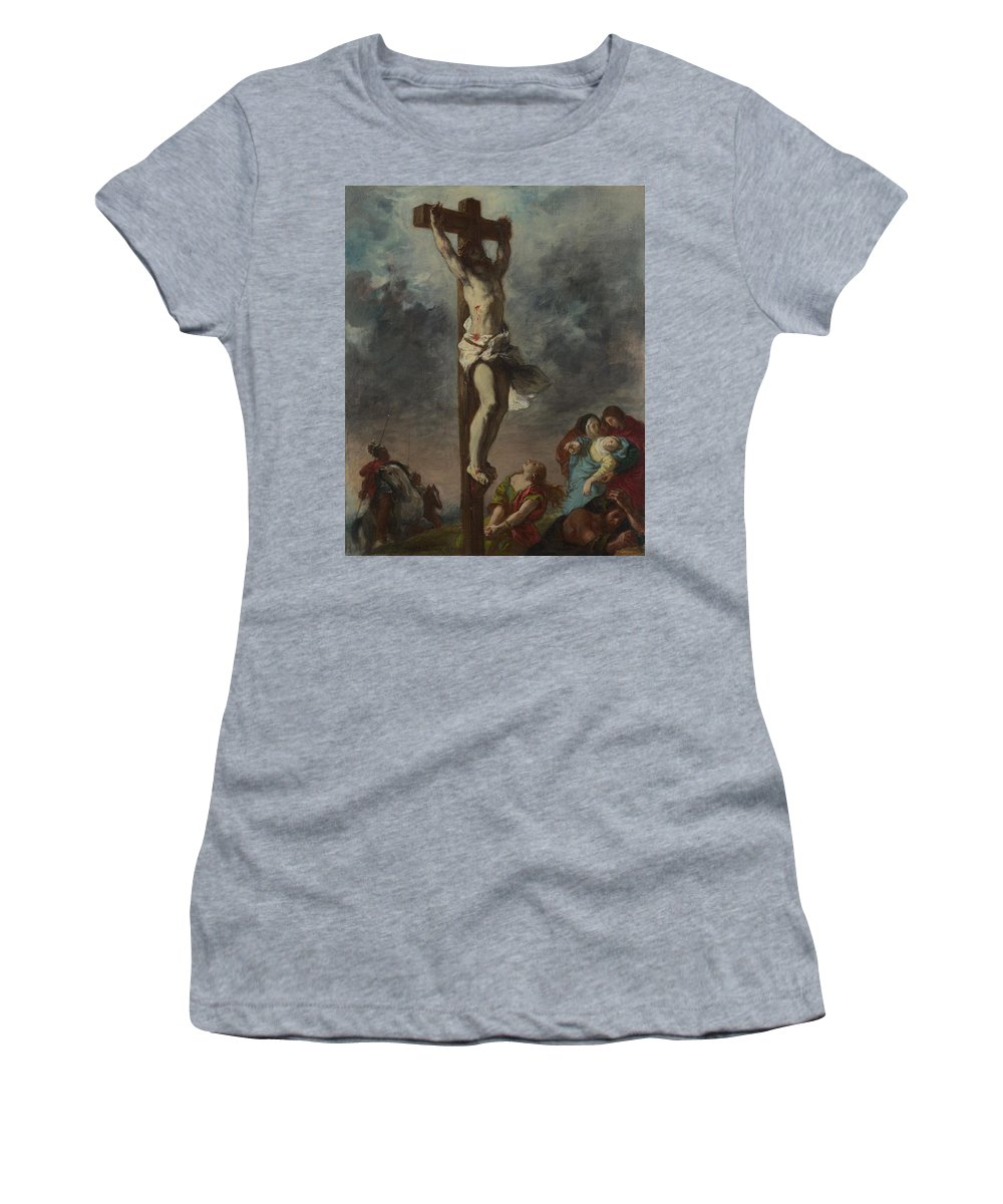 Eugene Women's T-Shirt (Athletic Fit) featuring the digital art Christ On The Cross by PixBreak Art