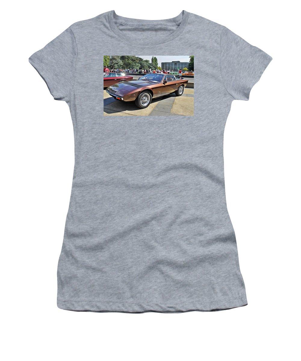 Maserati Women's T-Shirt featuring the photograph Maserati Khamsin by Anthony Croke