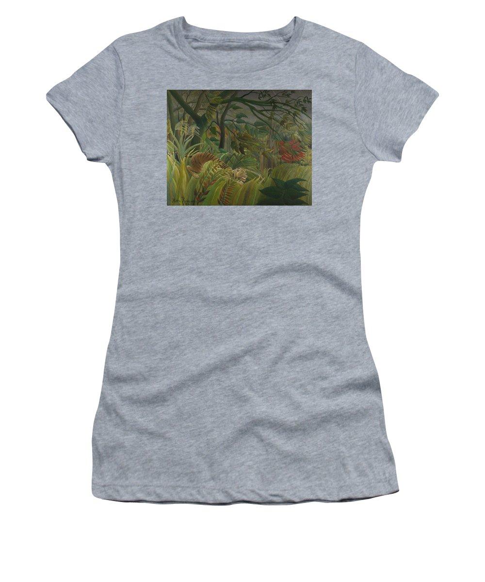 Henri Women's T-Shirt (Athletic Fit) featuring the digital art Surprised by PixBreak Art