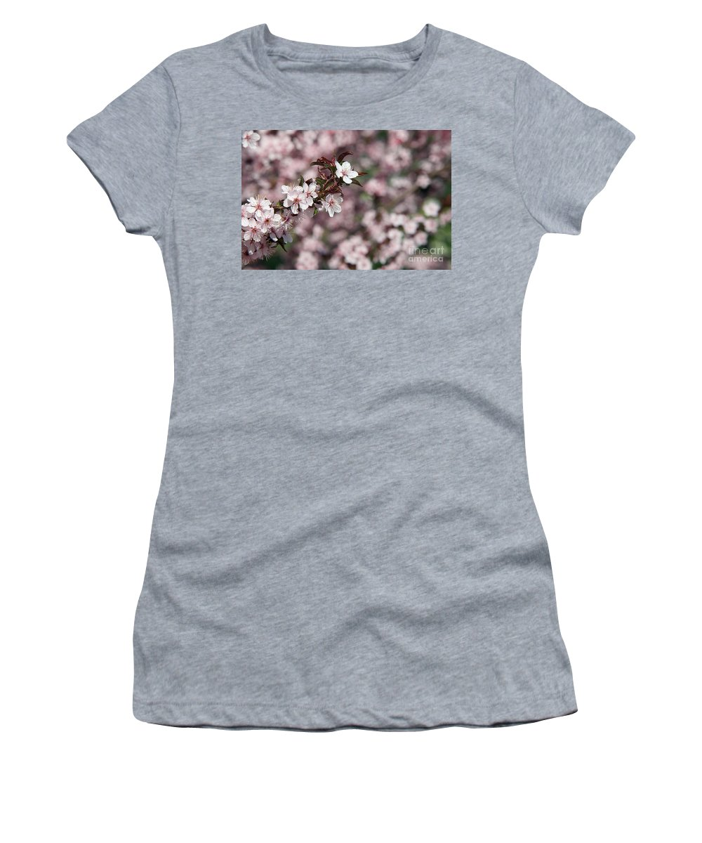 Flowers Women's T-Shirt (Athletic Fit) featuring the photograph Tree Blossoms by Elvira Ladocki