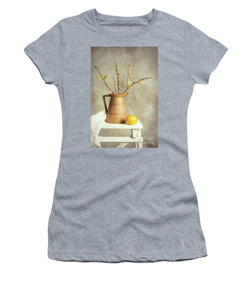 Pretty Women's T-Shirt (Athletic Fit) featuring the photograph Spring Still Life by Amanda Elwell