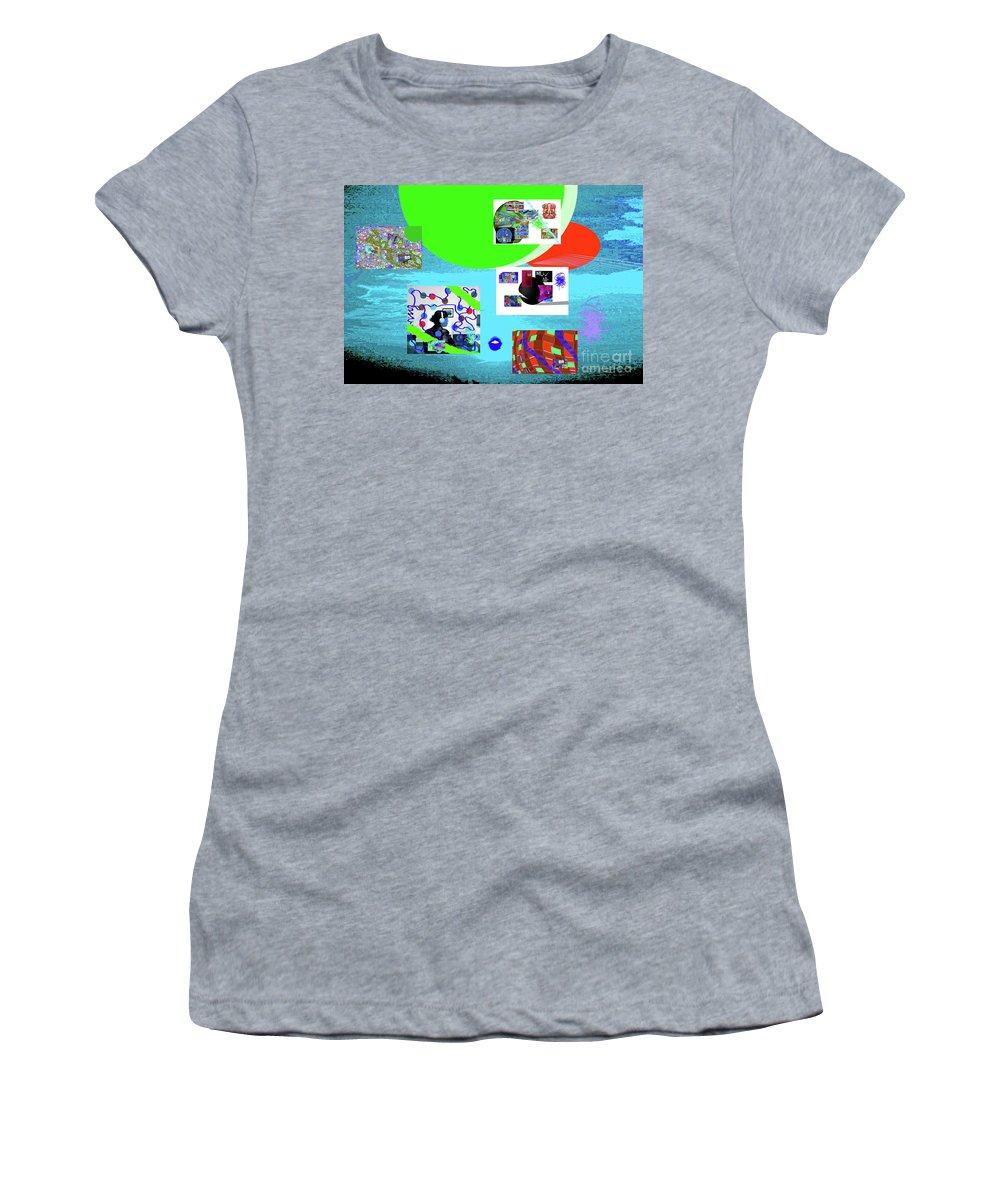 Walter Paul Bebirian Women's T-Shirt featuring the digital art 8-7-2015babcdefghi by Walter Paul Bebirian
