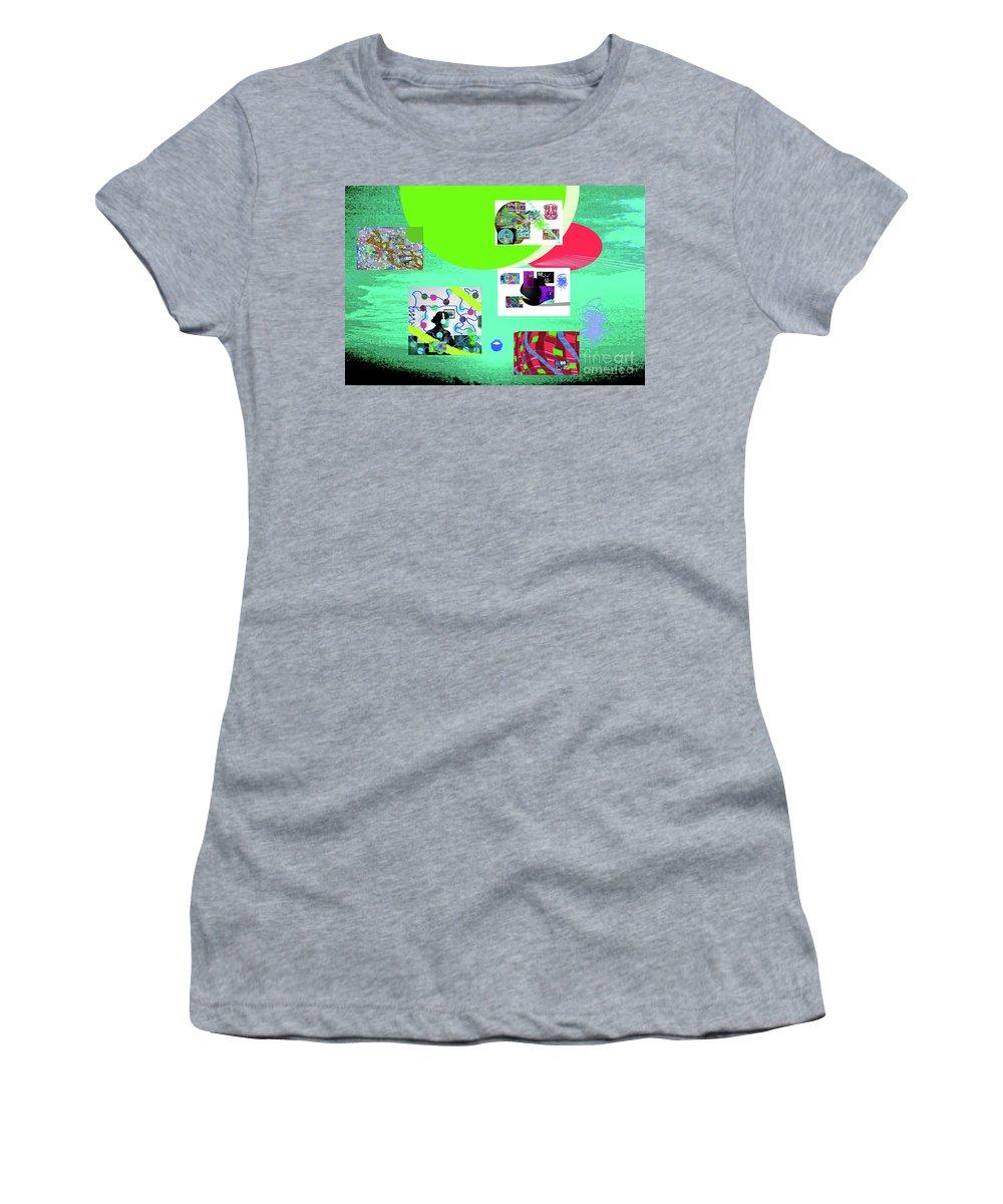 Walter Paul Bebirian Women's T-Shirt featuring the digital art 8-7-2015babcdefghijkl by Walter Paul Bebirian
