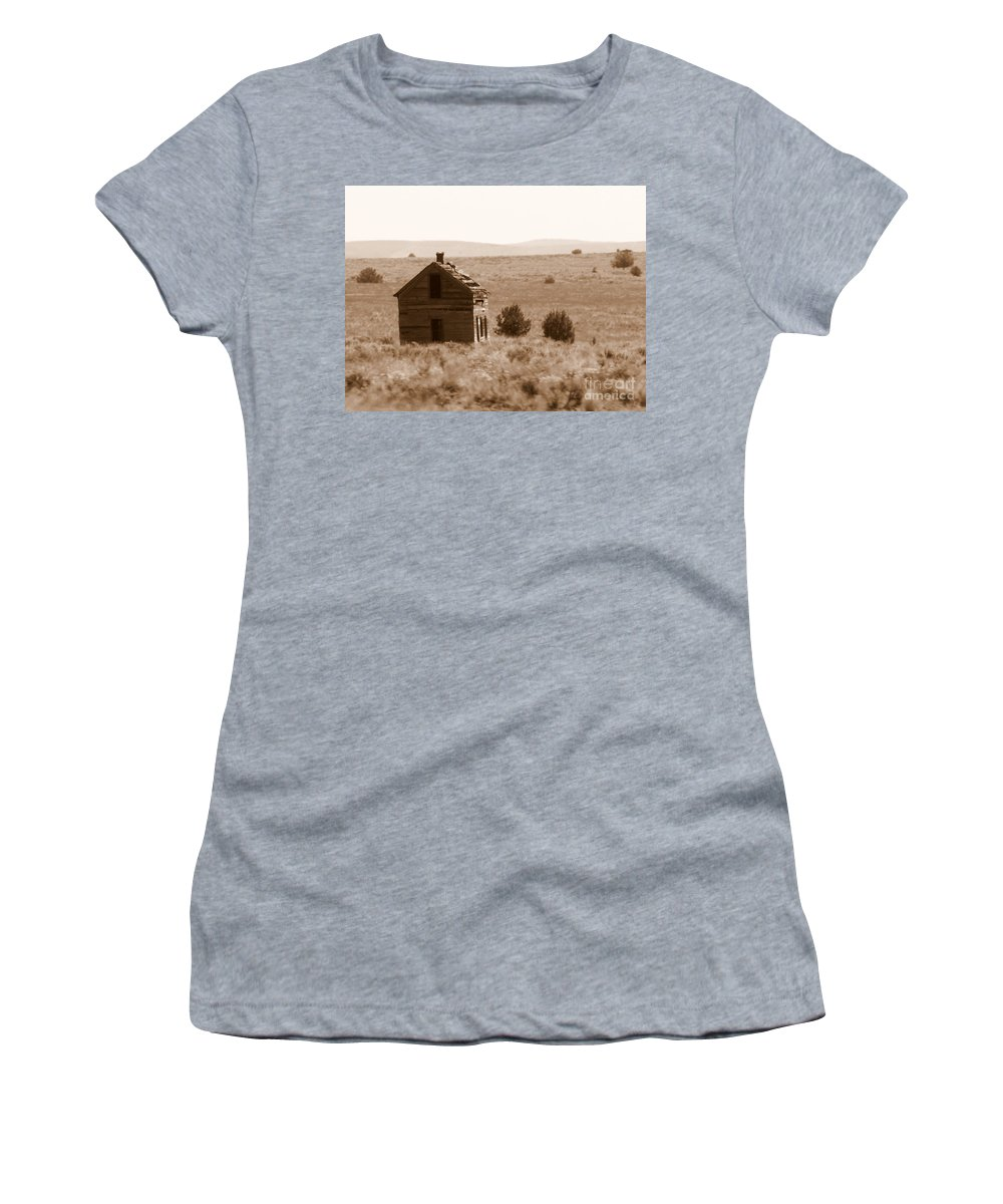 Old Shack Women's T-Shirt featuring the photograph A Little Isolated by Carol Groenen