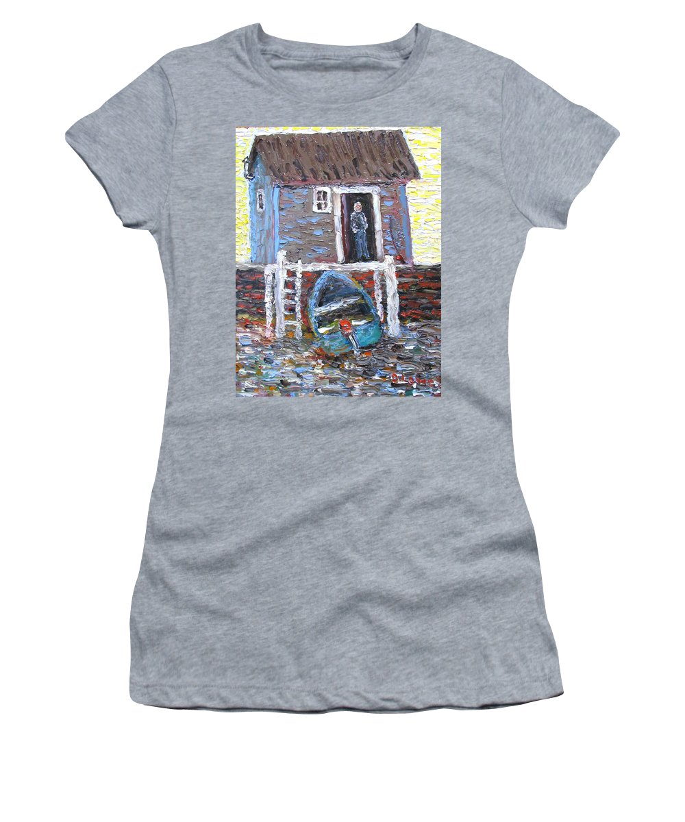 Art Women's T-Shirt featuring the painting A Place To Get Away From It All by Danny Lowe