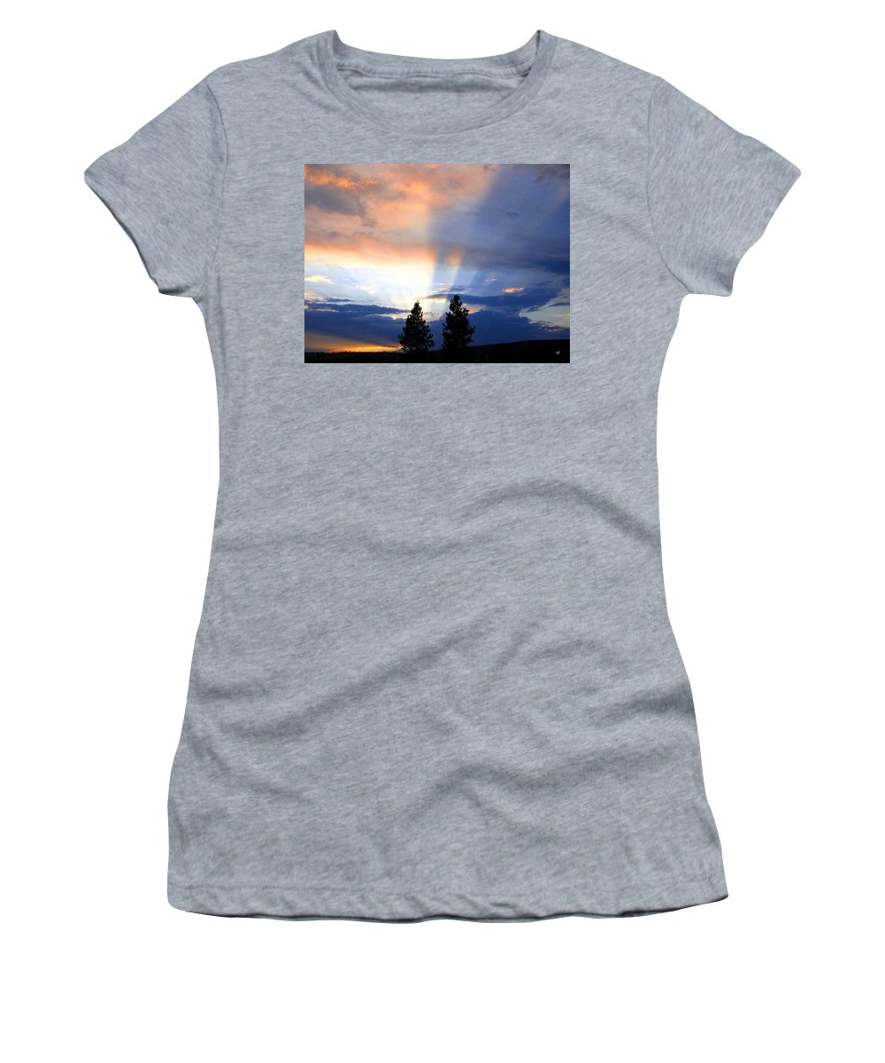 Sky Women's T-Shirt (Athletic Fit) featuring the photograph A Riveting Sky by Will Borden