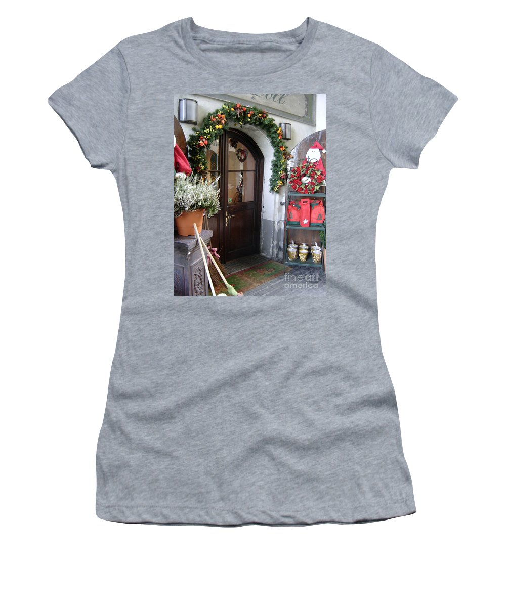 Santa Women's T-Shirt (Athletic Fit) featuring the photograph A Salzburg Christmas by Mary Rogers