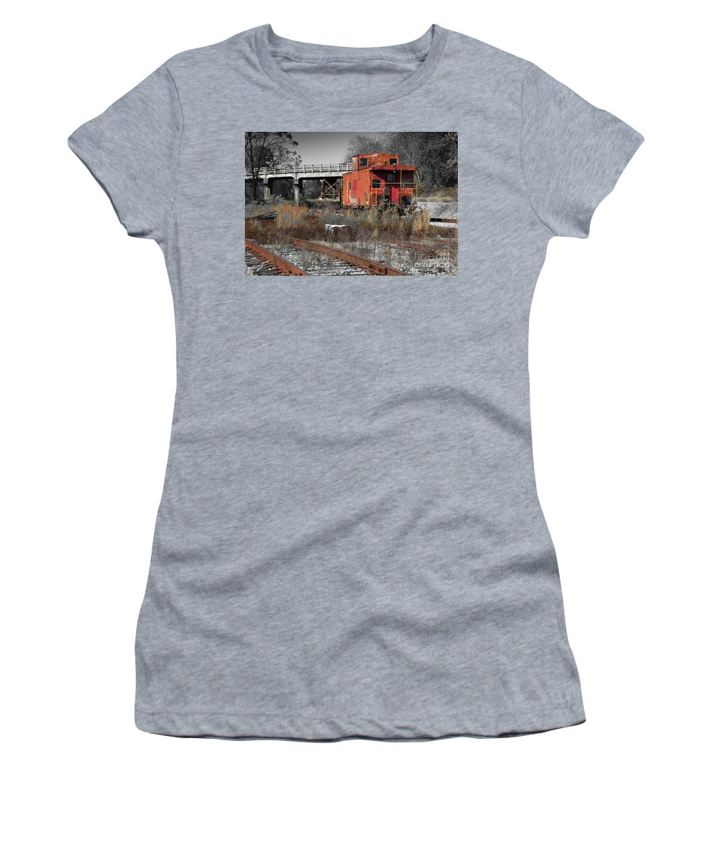 Train Women's T-Shirt (Athletic Fit) featuring the photograph Abandon Caboose by Aaron Shortt