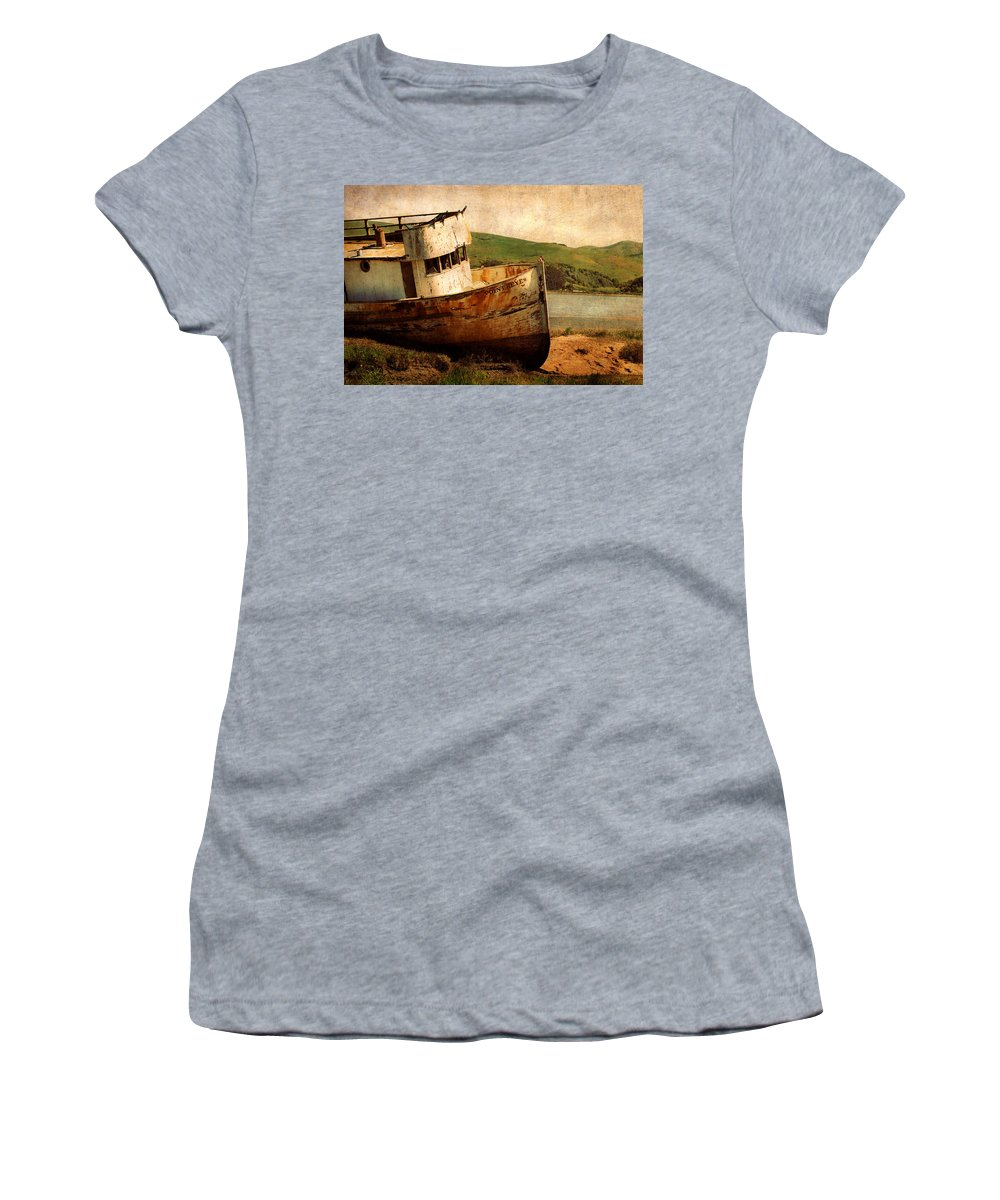 Shipwreck Women's T-Shirt featuring the photograph Abandoned by Renee Hong