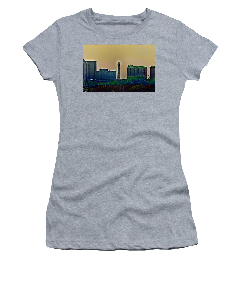 Atlantic City Women's T-Shirt (Athletic Fit) featuring the photograph Absecon Lighthouse by Bill Cannon