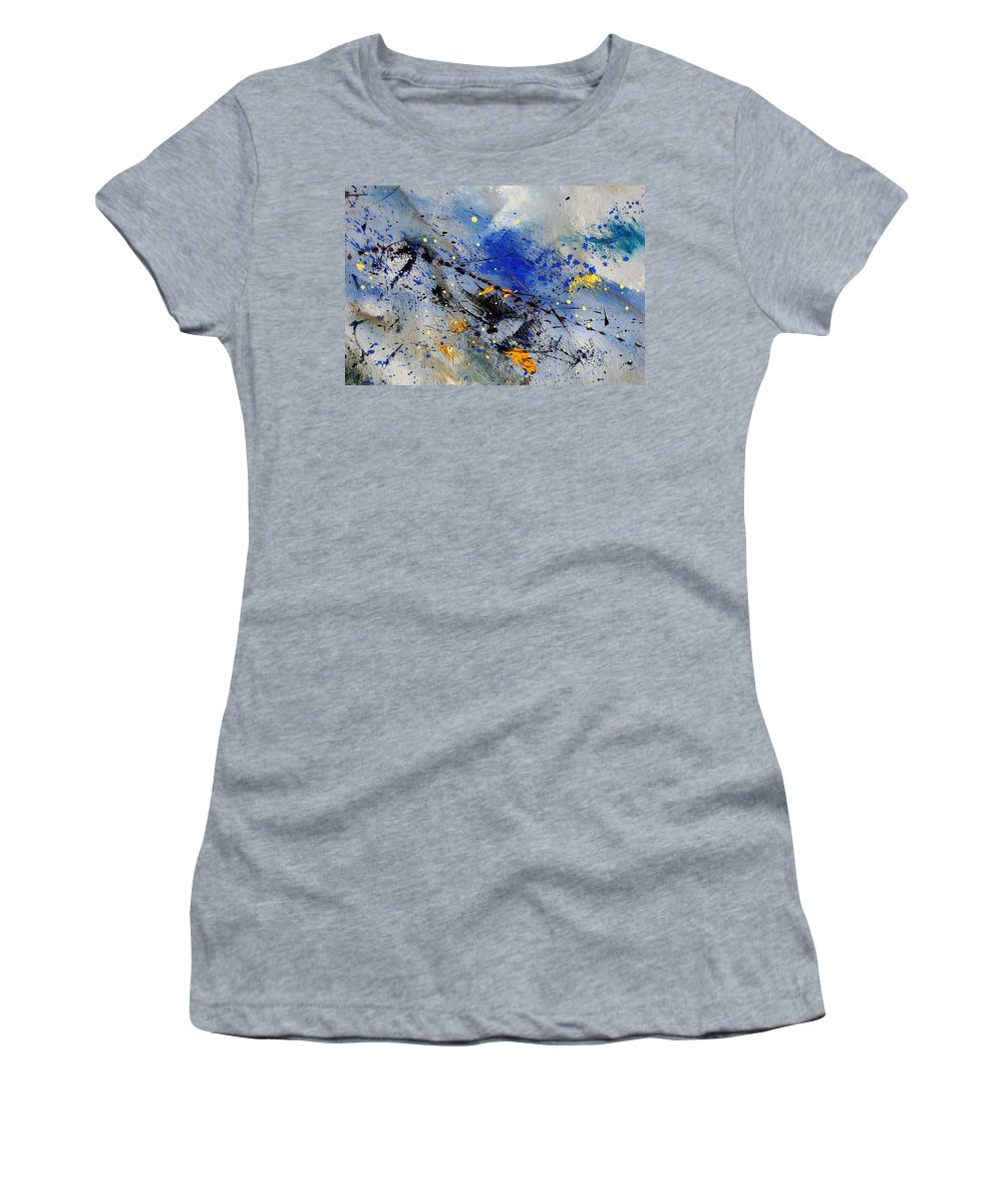 Abstract Women's T-Shirt featuring the painting Abstract 969090 by Pol Ledent