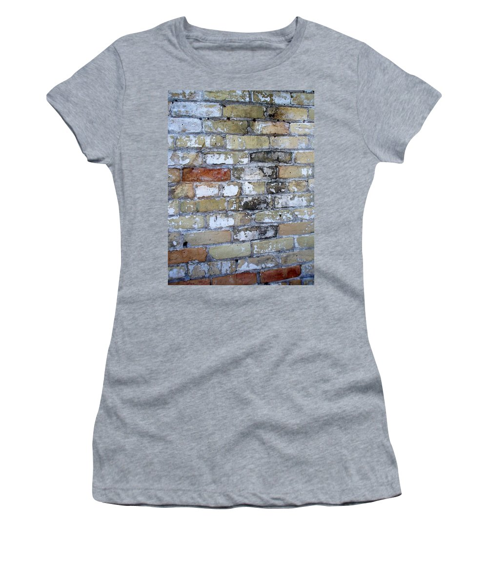 Industrial Women's T-Shirt (Athletic Fit) featuring the photograph Abstract Brick 10 by Anita Burgermeister