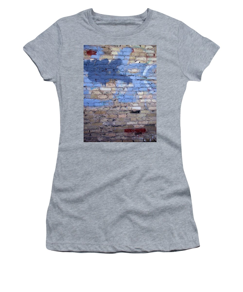 Industrial Women's T-Shirt (Athletic Fit) featuring the photograph Abstract Brick 3 by Anita Burgermeister