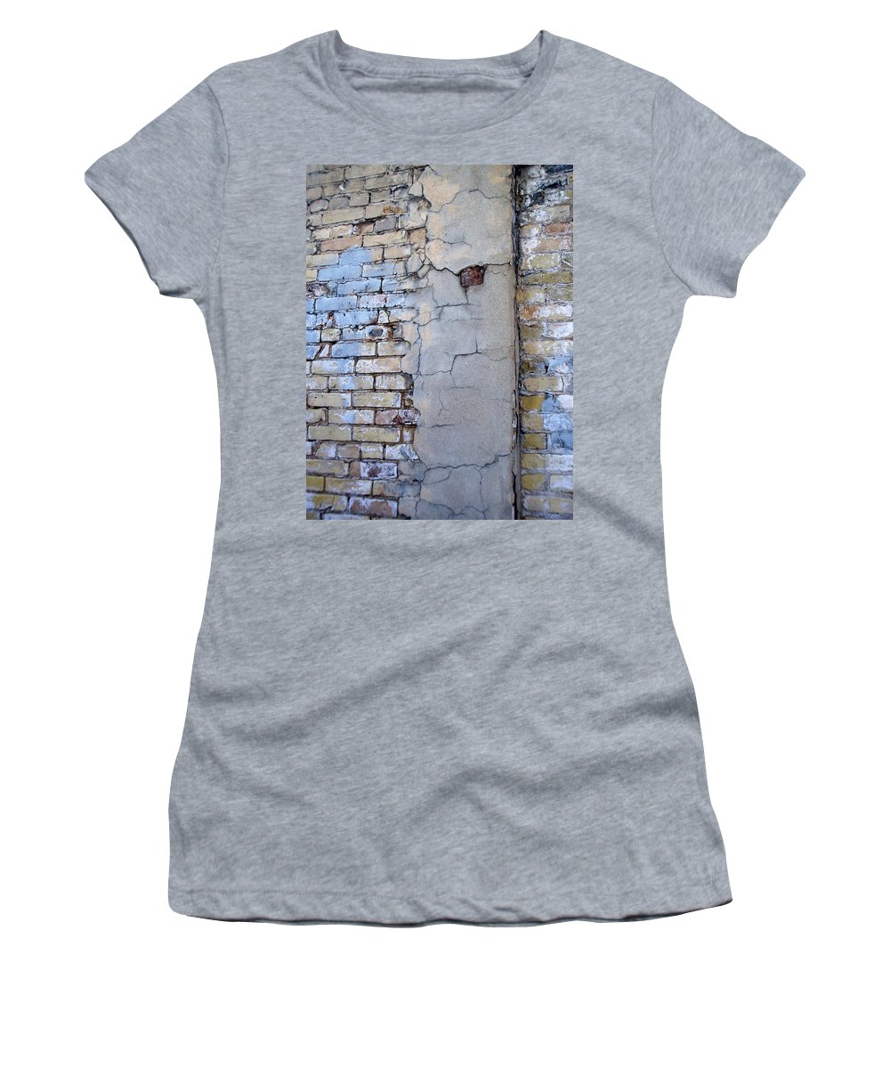 Industrial Women's T-Shirt (Athletic Fit) featuring the photograph Abstract Brick 4 by Anita Burgermeister