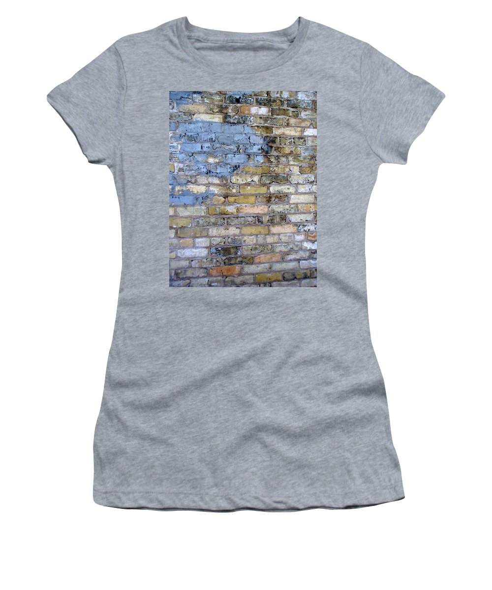 Industrial Women's T-Shirt (Athletic Fit) featuring the photograph Abstract Brick 6 by Anita Burgermeister