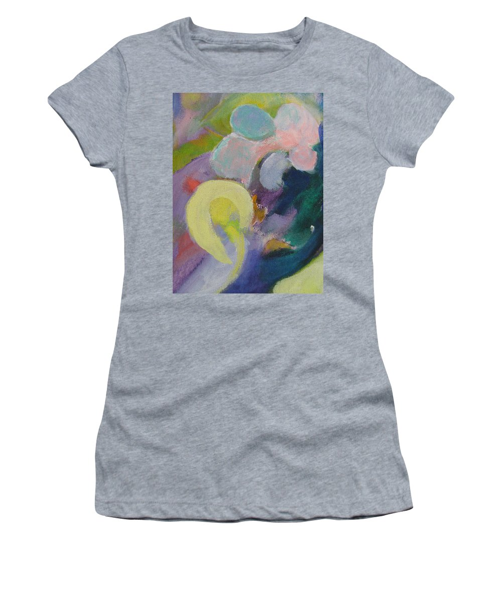 Abstact Women's T-Shirt (Athletic Fit) featuring the painting Abstract Close Up 15 by Anita Burgermeister