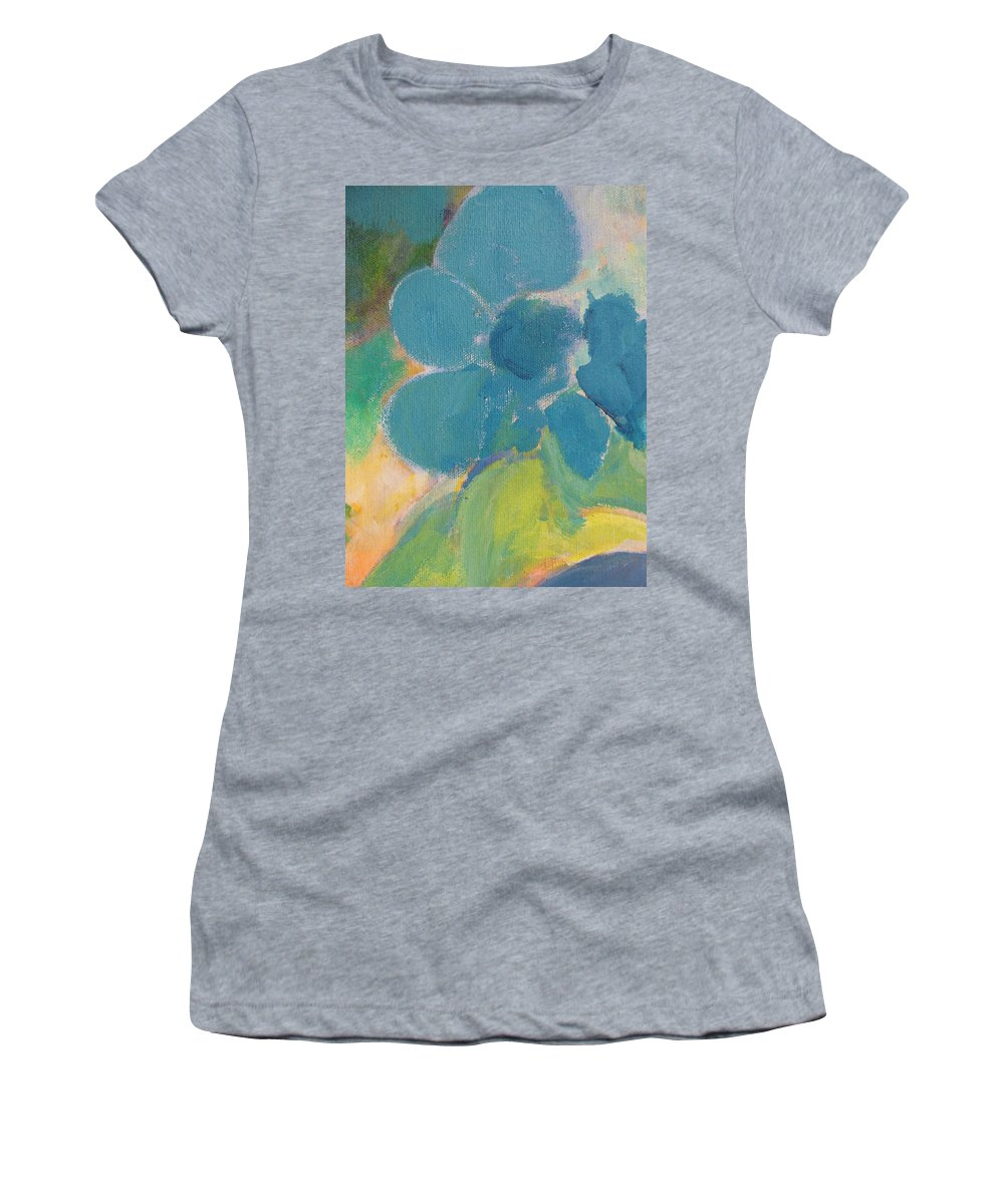 Abstact Women's T-Shirt (Athletic Fit) featuring the painting Abstract Close Up 9 by Anita Burgermeister