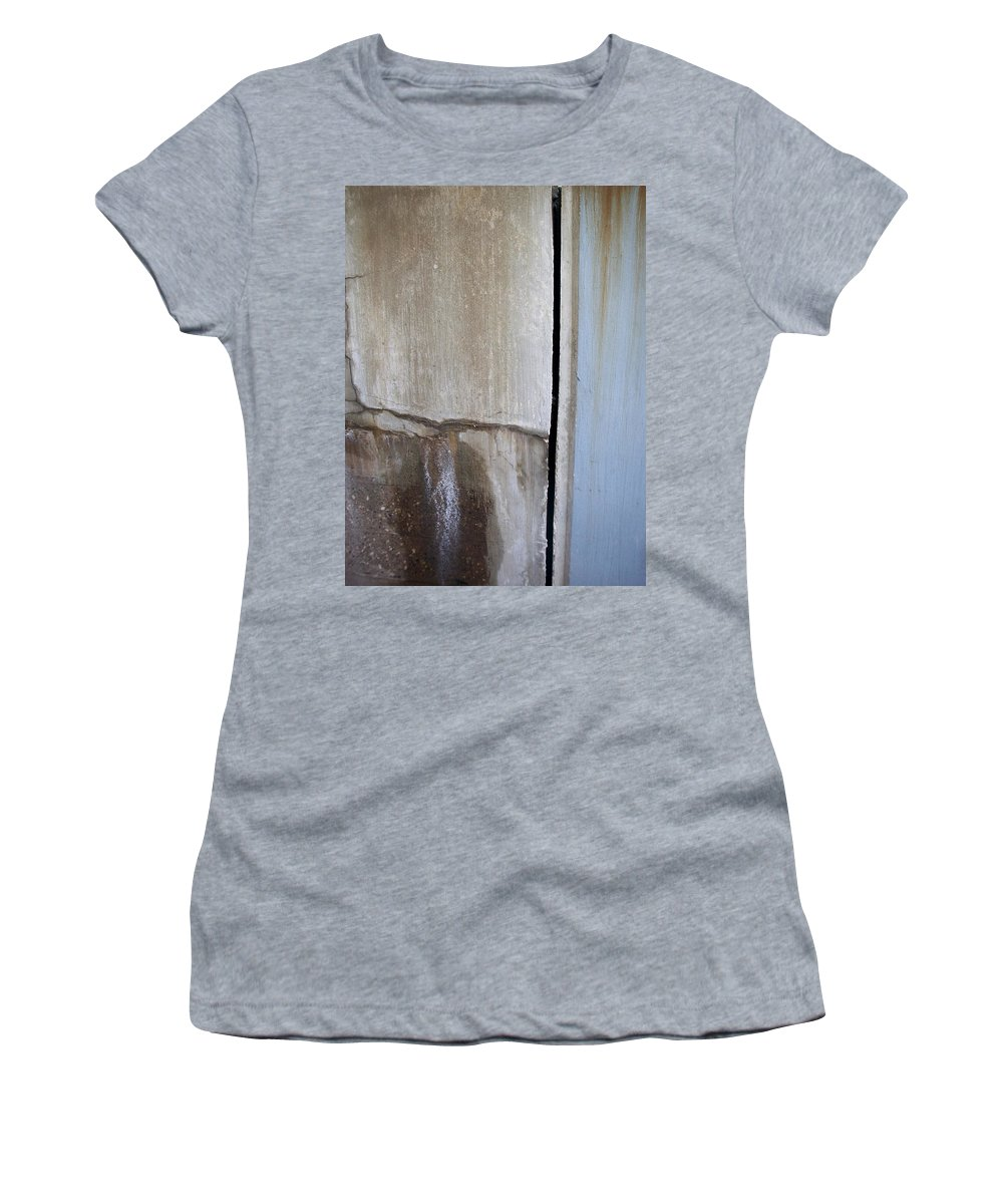 Industrial. Urban Women's T-Shirt (Athletic Fit) featuring the photograph Abstract Concrete 1 by Anita Burgermeister
