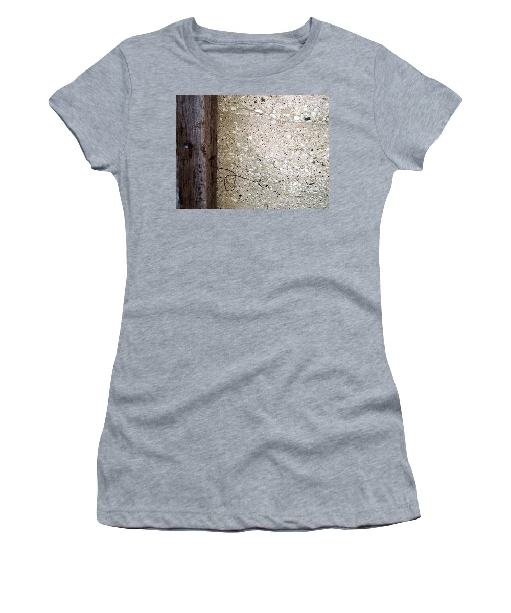 Industrial. Urban Women's T-Shirt (Athletic Fit) featuring the photograph Abstract Concrete 12 by Anita Burgermeister