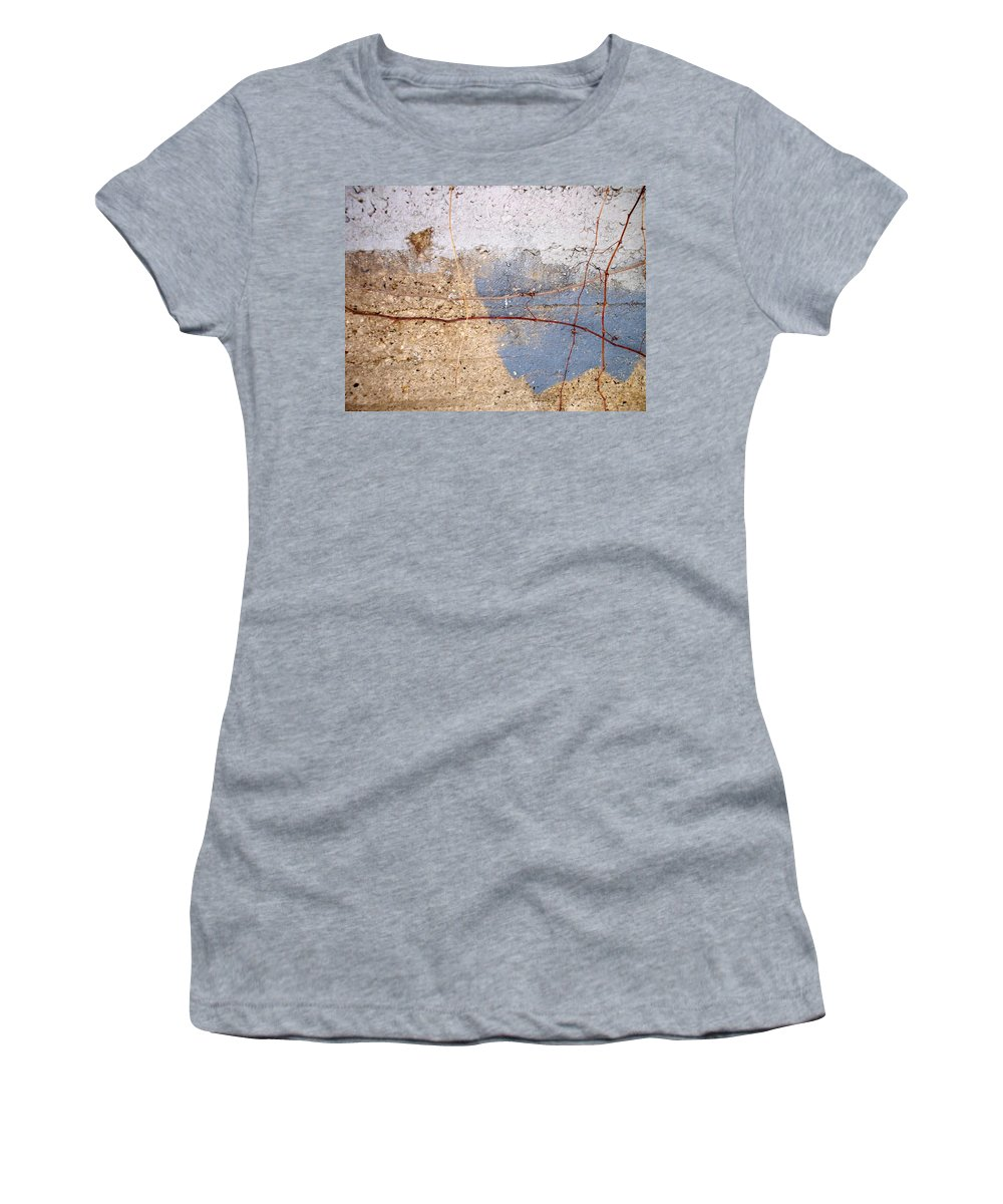 Industrial. Urban Women's T-Shirt (Athletic Fit) featuring the photograph Abstract Concrete 15 by Anita Burgermeister