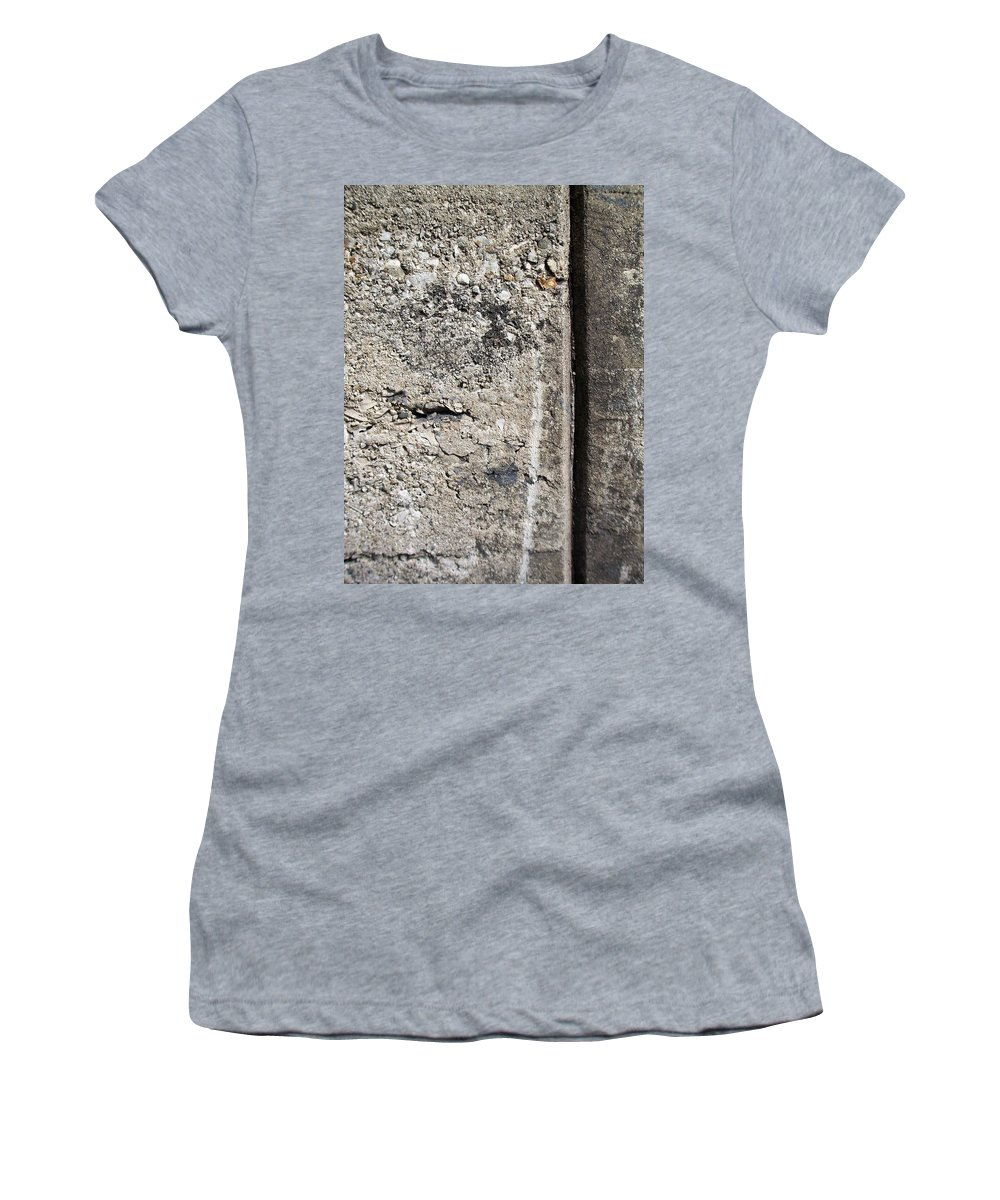 Industrial. Urban Women's T-Shirt (Athletic Fit) featuring the photograph Abstract Concrete 16 by Anita Burgermeister