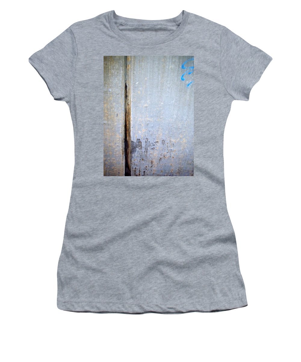 Industrial. Urban Women's T-Shirt (Athletic Fit) featuring the photograph Abstract Concrete 19 by Anita Burgermeister