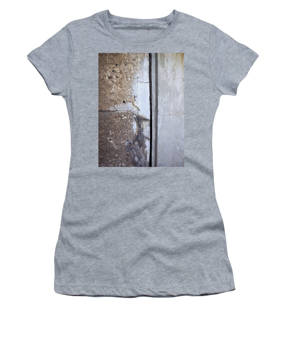 Industrial. Urban Women's T-Shirt (Athletic Fit) featuring the photograph Abstract Concrete 5 by Anita Burgermeister