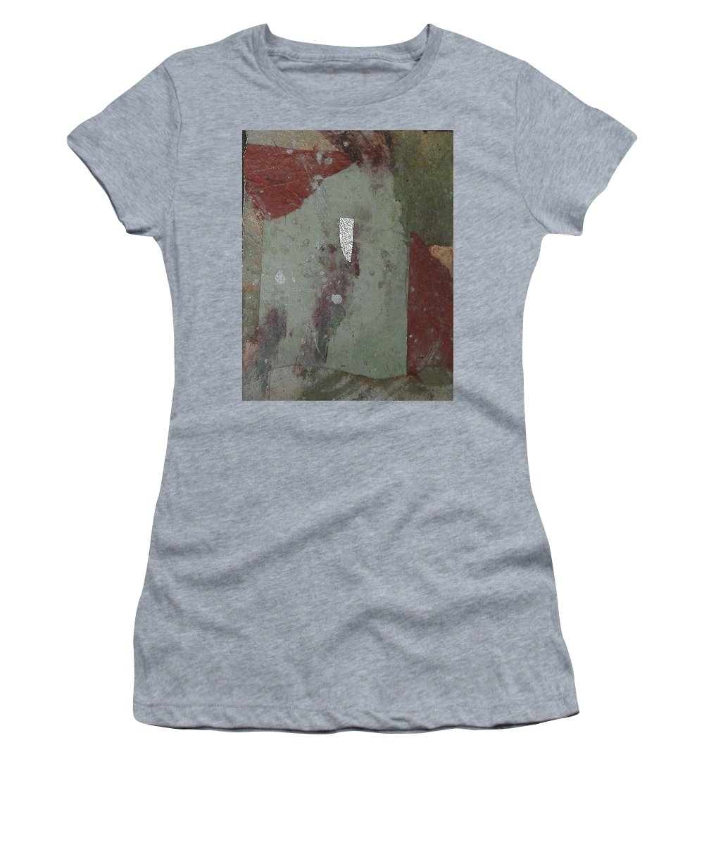 Women's T-Shirt (Athletic Fit) featuring the mixed media Abstract One by Pat Snook